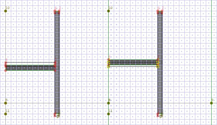 メイリオ U+2524「┤」 修正前と修正後